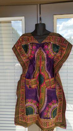 Dashiki Print Elastic Ankara Shift Dress Midi Dress Ankara Dress African  Authentic Fabric with pockets Angelina f98ac6ab33