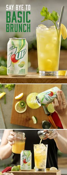 """The Cure is way more than """"hair of the dog."""" With a splash of vodka, citrus, greens, and Diet 7UP, it's the cure for a better brunch. Must be 21+ Please drink responsibly. Age Verification Required."""