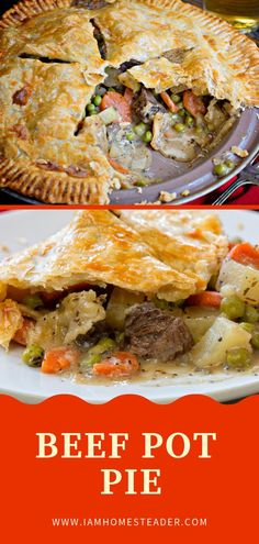 BEEF POT PIE Give this easy classic pot pie an elegant twist with the added steak bites! Steak Bites come together really quickly and add amazing texture and flavor to this Beef Pot Pie recipe! Save this homemade recipe, it will be loved by your family! Easy Pie Recipes, Meat Recipes, Cooking Recipes, Homemade Pot Pie, Homemade Recipe, Steak Pie Recipe, Lamb Pot Pie Recipe, Easy Meat Pie Recipe, Steaks