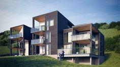 Building Exterior, Exterior Design, 3d, Mansions, House Styles, Public, Inspiration, Home Decor, Architecture Visualization