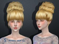 Butterflysims: Skysims 159 donation hairstyle • Sims 4 Downloads