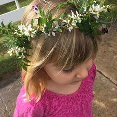 Custom whimsical flower girl crown. www.jademcintoshflowers.com.au
