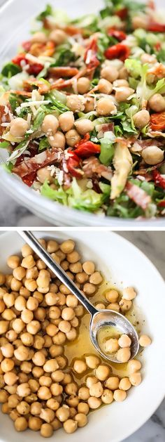 My version of Beverly Hills famous La Scala Italian Chopped Salad with Marinated Chickpeas | foodiecrush.com