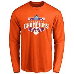 Clemson Tigers 2016 ACC Baseball Conference Champions Long Sleeve T-Shirt - Orange