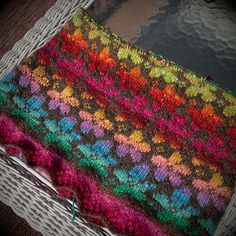 Ravelry: sherpagirl's Spring - Noro Silk Garden Light with a rich brown background...gorgeous.