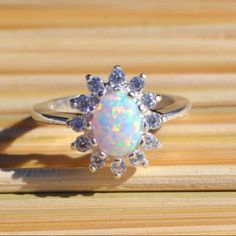 NEW! Cluster opal ring! So elegant and glamorous. The perfect amount of bling for spring!