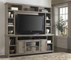 Inspire a #vintage chic space for entertaining with this #havertys Chestnut Springs Entertainment Wall.