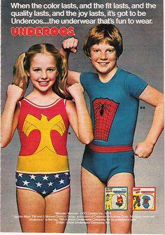 Underoos ad, 1981