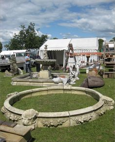 Smiths Architectural and Architectural Salvage Source hard at work setting up their stands at Salvo Fair.
