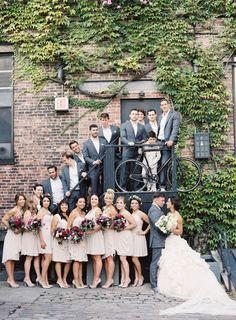 Photography: Jen Huang   jenhuangblog.com Bridesmaids Dresses: Watters   Watters.com Groomsmen's Attire: Alton Lane   AltonLane.com Wedding Gown: Mark Zunino   kleinfelds.com   View more: http://stylemepretty.com/vault/gallery/23975