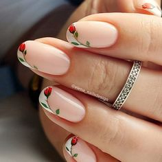 Wow Nails, French Manicure Nails, Elegant Nails, Classy Nails, Chic Nails, Stylish Nails, Simple Nail Art Designs, Nail Designs, Simple Gel Nails
