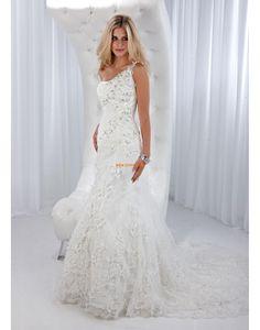 En axel Ärmlös Dragkedja Bröllopsklänningar 2014