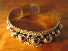 Vintage Silver Bracelet Thailand via Etsy; this is totally Texas style, though  says made in Thailand.