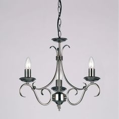 Endon Lighting 3 Light Grande Candle Chandelier & Reviews | Wayfair.co.uk