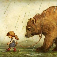hd walking in the rain | Mays_Dabbs_Advocate_art_Bear and Girl_Walking in the Rain_00002