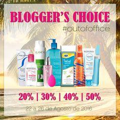 Chegou mais um Blogger's Choice, toca a aproveitar! 💝 Até 26 de agosto de 2016