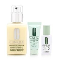 Clinique Great Skin 3 Piece Set 3 Piece Set - Dry Combination Skin by Clinique. $24.99. Buy Clinique Skin Care Sets - Clinique Great Skin 3 Piece Set 3 Piece Set - Dry Combination Skin