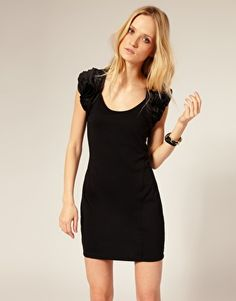 Ted Baker Jersey Dress With Frill Sleeves