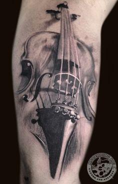 violin tattoo design  https://www.facebook.com/cornea.catalin