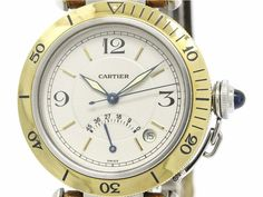 Polished #CARTIER Pasha 38 Power Reserve 18K Gold Steel Watch W31012H3 (BF064693): Authenticity guaranteed, free shipping worldwide & 14 days return policy. Shop more #preloved brand items at #eLADY: http://global.elady.com