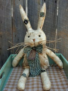 Easter Bunny Bowl Fillers Yarn Wrapped Rabbits Farmhouse