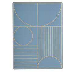 Outline Bordbrikke 40x30 cm, Blå, Ferm Living