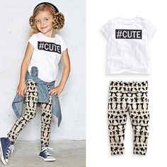 #Cute Summer Day T-shirt   Leggings Set