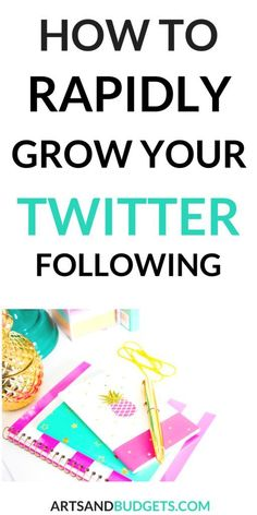 Looking for ways to rapidly grow your Twitter following? If so, check out this post! It share some tips to grow your Twitter following this month // Arts and Budgets