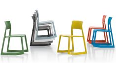 Tip Ton Chair, Vitra Ltd - Handy stacking chair, good to have a few nearby a creative area in case your seating requirements suddenly grow Modern Chairs, Modern Furniture, Furniture Design, Space Furniture, School Furniture, Vitra Design, Chair Design, Side Chairs, Dining Room