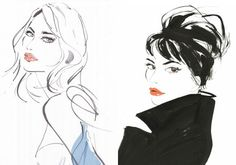 Fashion Illustrators - Jacqueline Bissett