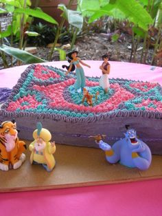 Princess Jasmine magic carpet ride birthday cake made by me