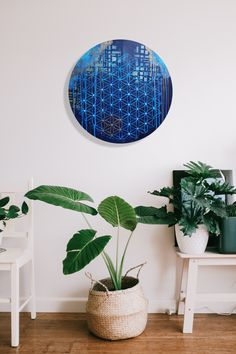 Sacred Geometry wall art #floweroflife #sacredgeometry #wallart #art #originalart #painting #boho #bohostyle #bohoart Original Artwork, Original Paintings, Round Canvas, Acrylic Painting Flowers, Flower Of Life, Boho, Sacred Geometry, Blue Gold, Kids Rugs