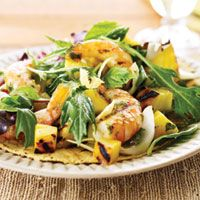Shrimp and Pineapple Salad with Basil and Baby Greens - Shrimp Recipes - Delish.com