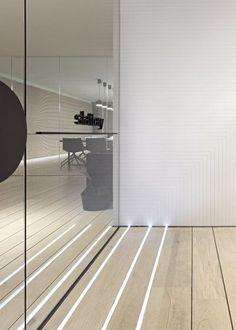 Integrated floor lighting - Slattery Australia by Elenberg Fraser . Australian Interior Design Awards 2013 workplace winner #home #decor