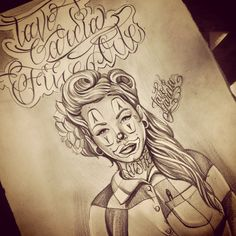 Chola clown drawing I did a couple days ago love doin art my passion my soul