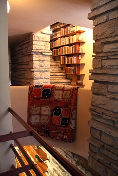 Stairwell Library - Frank Lloyd Wright
