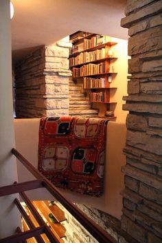 Stairwell Library - Frank Lloyd Wright