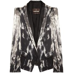 Roberto Cavalli Printed silk-satin blazer ($3,680) via Polyvore