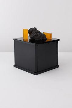 Nicolosi, 2014 Mouth blown lava, lava rock, Murano glass.  de natura fossilium-glasses - Formafantasma
