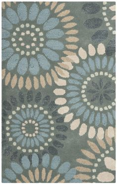 Safavieh Jardin Grey & Blue Floral Area Rug & Reviews | Wayfair