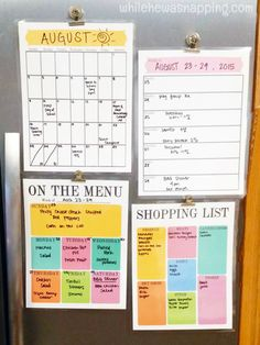 DIY Dry Erase Organizers with Scotch™ Laminating products. Free printable organizers you can reuse over and over. 7 pages!