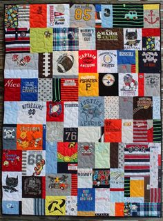 Katie's Quilts and Crafts: Baby Joey's clothing quilt.