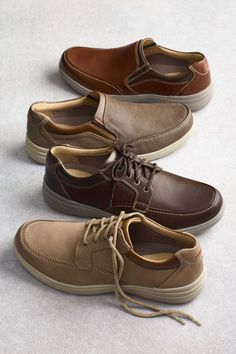 Johnston & Murphy's rich leather casuals with sporty soles...so soft, lightweight and cushioned, they feel like sneakers.