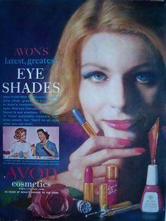 1961 AVON Cosmetics Nail Polish Eye Shades Makeup Color Ad