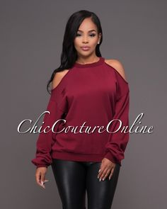 Chic Couture Online - Alesha Burgundy Cut-Out Sweater.(http://www.chiccoutureonline.com/alesha-burgundy-cut-out-sweater/)