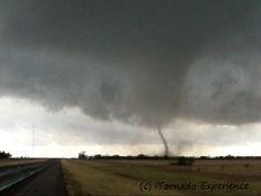 November 7th 2011 tornado roping out near Snyder, OK