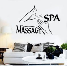 Wall Stickers Vinyl Decal Spa Massage Beauty Salon Relax (ig1704)