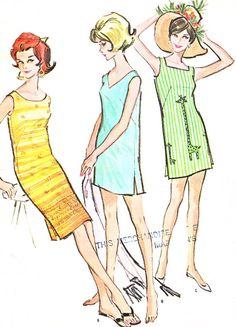 1960s Dress Pattern McCalls 6740 Sleeveless by paneenjerez on Etsy, $10.00