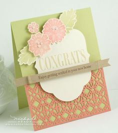 new lace impression die from PTI. So sweet and romantic.