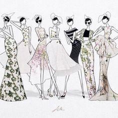 jsk fashion illustration - Google Search
